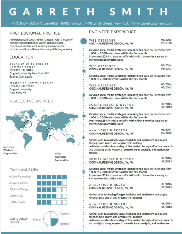 Garreth Smith - 5 BEST INFOGRAPHIC RESUME TEMPLATES OF 2018-2