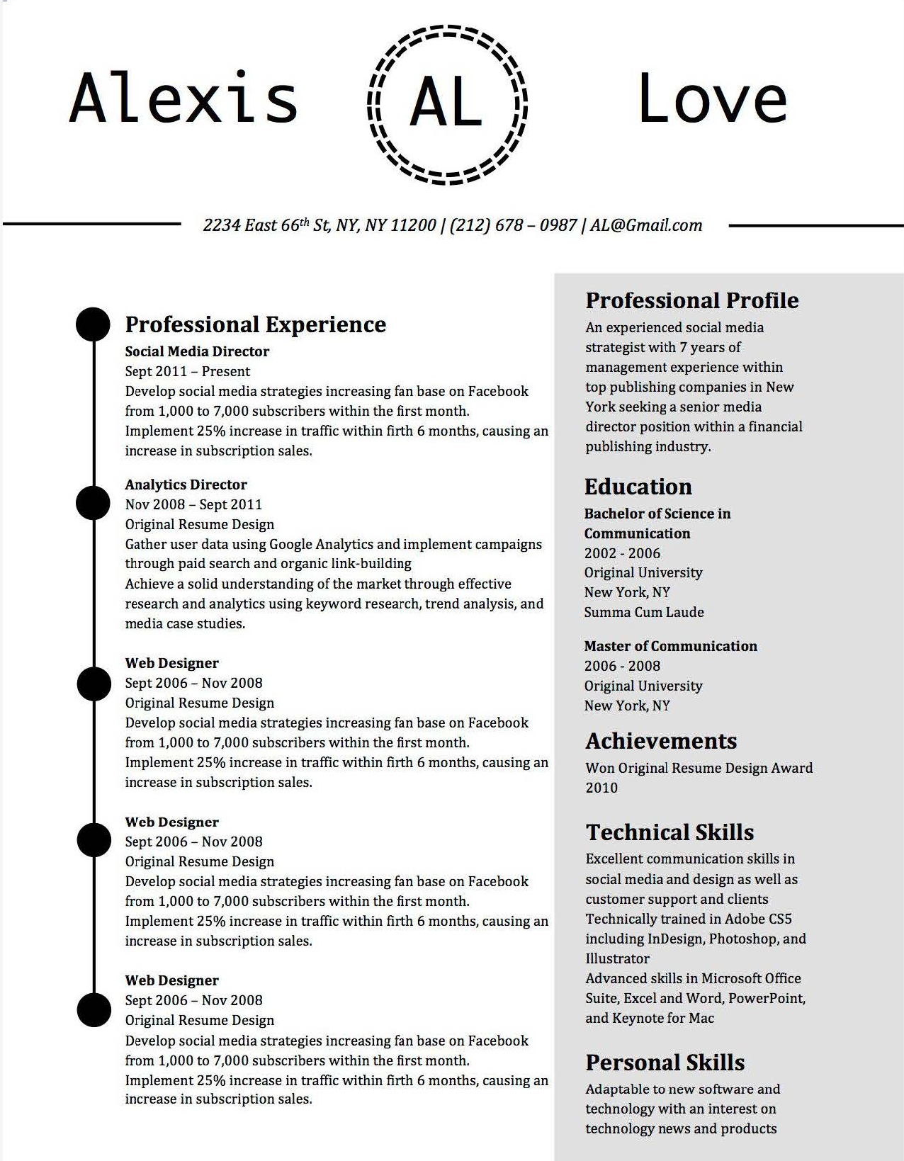 5 best free resume templates of 2019