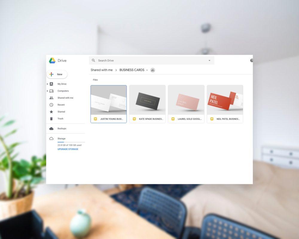 business card google docs templates