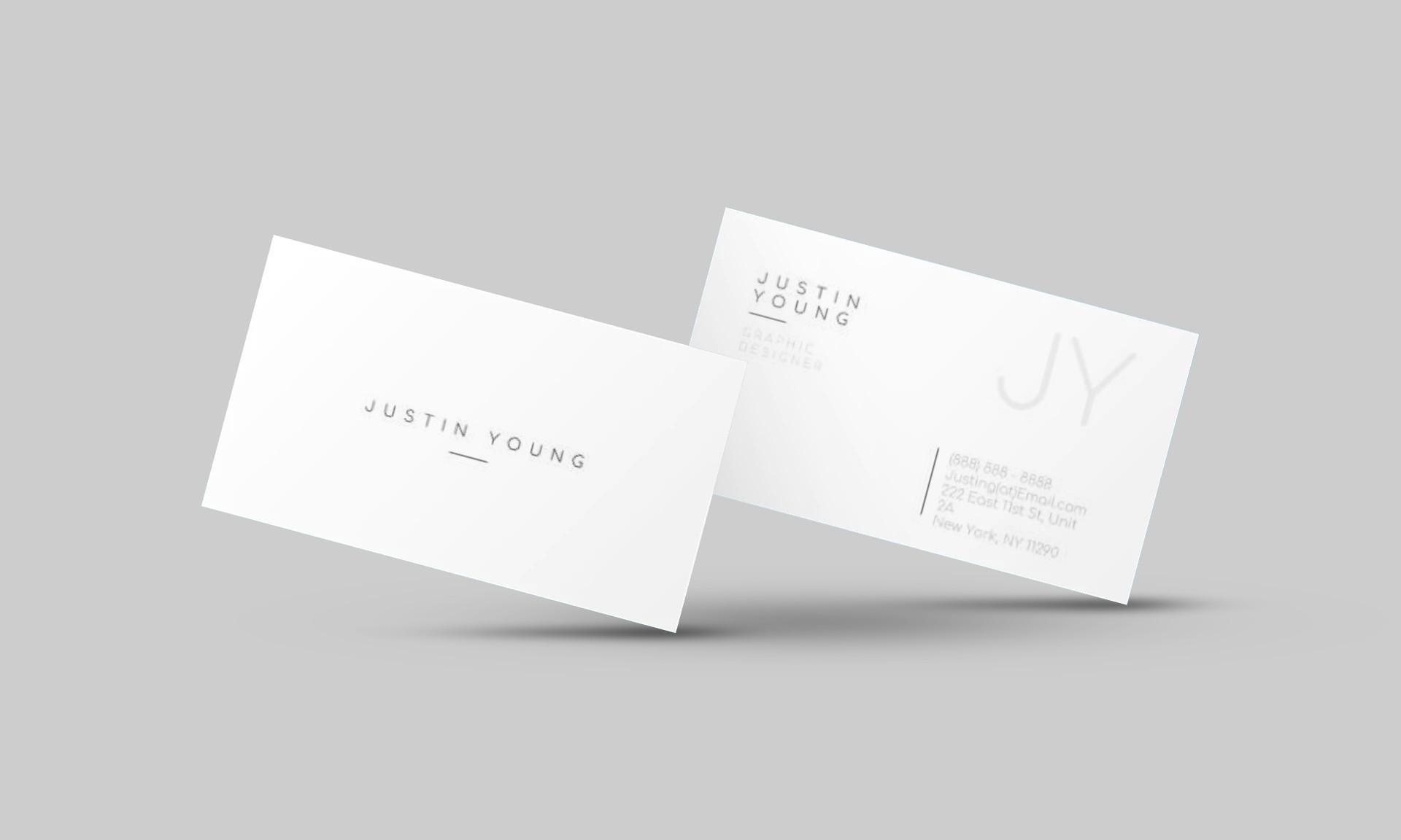 Justin Young Google Docs Business Card Template