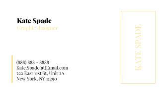 Kate Spade Business Card Template for Google Docs