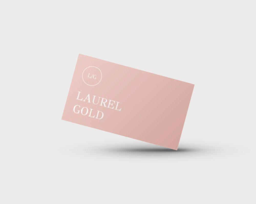 LAUREL GOLD GOOGLE DOCS BUSINESS CARD TEMPLATE STAND OUT SHOP 2