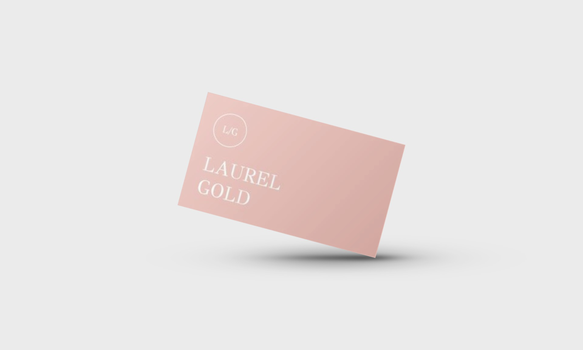 Laurel Gold Google Docs Business Card Template