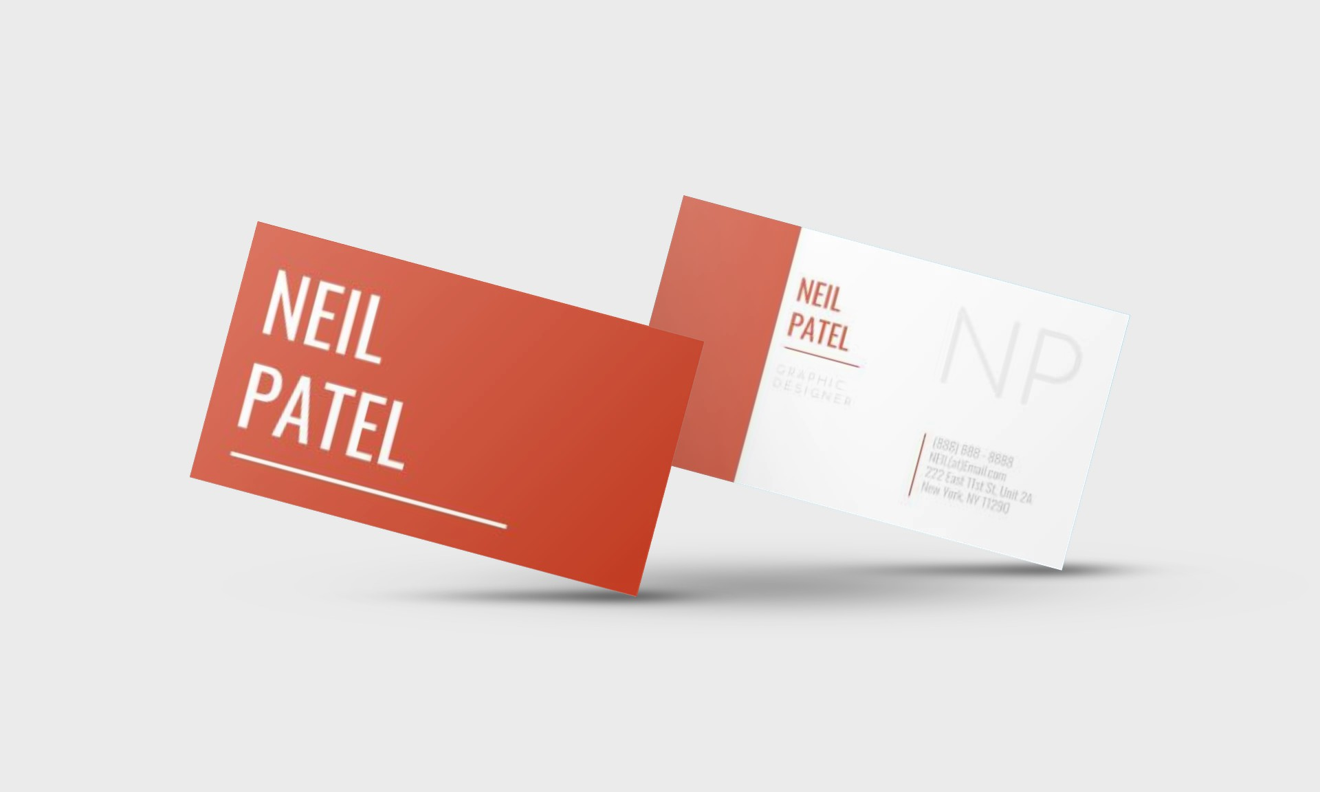 NEIL PATEL GOOGLE DOCS BUSINESS CARD TEMPLATE