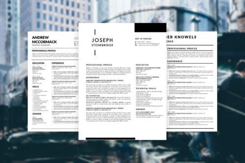 5 Modern CV Templates of 2019